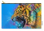 Crazy Tiger Carry-all Pouch by Olga Shvartsur