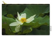 Cream Colored Lotus Carry-all Pouch