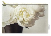 Cream Peonies In A Rustic Vase Carry-all Pouch