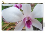 Creamy White And Hot Pink Orchid Carry-all Pouch