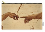 Creation Of Adam Hands A Study Coffee Painting Carry-all Pouch