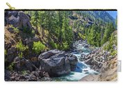 Creek Flowing Through Rocks, Icicle Carry-all Pouch