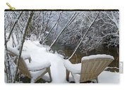 Creekside Chairs In The Snow 2 Carry-all Pouch