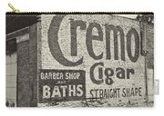 Cremo Cigar In Black And White Carry-all Pouch