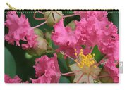 Crepe Myrtle Macro Carry-all Pouch