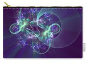Crescent Moon And Fireworks Carry-all Pouch