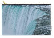 Crest Of Horseshoe Falls In Winter Carry-all Pouch