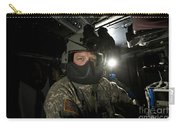 Crew Chief In A Uh-60 Black Hawk Carry-all Pouch