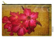 Crimson Floral Textured Carry-all Pouch