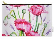 Crimson Poppies Carry-all Pouch