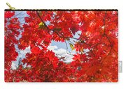 Crimson Red Leaves Background Carry-all Pouch
