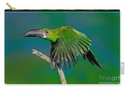 Crimson Rumped Toucanet In Flight Carry-all Pouch