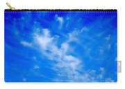 Cris Cross Clouds Carry-all Pouch