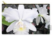 Crisp White Orchids In A Shady Garden Carry-all Pouch