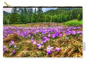 Crocus Flower Valley Carry-all Pouch