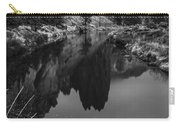 Crooked River Reflection Bw Carry-all Pouch
