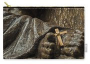 Cross And Feet Carry-all Pouch