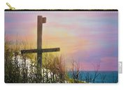 Cross At Sunset Beach Carry-all Pouch