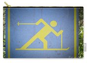 Cross Country Skiing Signboard Carry-all Pouch