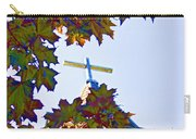 Cross Framed By Leaves Carry-all Pouch