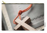 Cross On Bible Carry-all Pouch