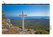 Cross Overlooking Islands Of Croatia Carry-all Pouch