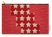 Cross Through Sparkle Stars On Red Silken Base Carry-all Pouch
