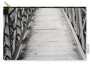 Crossing Over - Black And White Carry-all Pouch