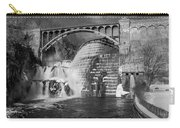 Croton Dam Bw Carry-all Pouch by Susan Candelario