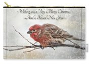 Crouching Finch Christmas Greeting Card Carry-all Pouch