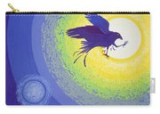 Crow, 1999 Gouache On Paper Carry-all Pouch