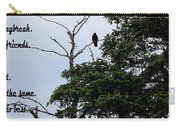 Crow - Black  Bird - Loud Call Carry-all Pouch
