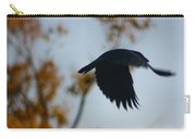 Crow In Flight 4 Carry-all Pouch