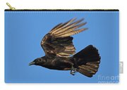 Crow In Flight Carry-all Pouch