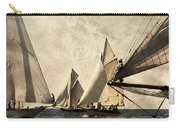 A Vintage Processed Image Of A Sail Race In Port Mahon Menorca - Crowded Sea Carry-all Pouch