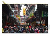 Crowds Throng Shanghai Chenghuang Miao Temple Over Lunar New Year China Carry-all Pouch