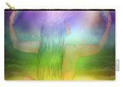Crown Chakra Goddess Carry-all Pouch by Carol Cavalaris