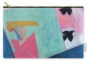 Crows And Geometric Figure Carry-all Pouch