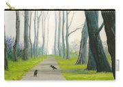 Crows On The Path Carry-all Pouch