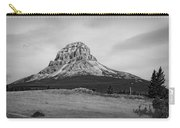 Crowsnest Mountain Black And White Carry-all Pouch