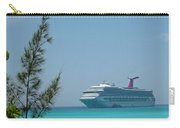 Cruise Ship At Half Moon Caye Carry-all Pouch