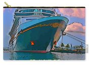 Cruise Ship In Port Carry-all Pouch