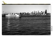 Cruising Elliott Bay Black And White Carry-all Pouch