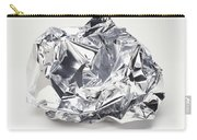 Crumpled Aluminum Foil Carry-all Pouch
