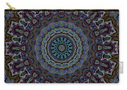 Crushed Blue Velvet Kaleidoscope Carry-all Pouch