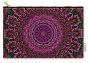 Crushed Pink Velvet Kaleidoscope Carry-all Pouch