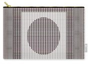 Crystal White And Gray Dots Design Pattern Shade Deco Decoration Carry-all Pouch