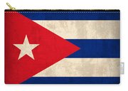 Cuba Flag Vintage Distressed Finish Carry-all Pouch
