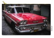 Cuban Vintage Red Carry-all Pouch