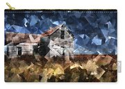 Cubist Abandoned Prairie Farm House Carry-all Pouch